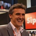 Olivier Mégean, président de Sipa sur le stand de l'agence à Visa pour l'image 2012 (c) Geneviève Delalot