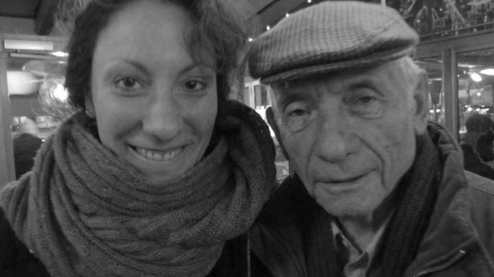 Mario Dondero avec sa fille Elisa. Photo &copy Michel Puech