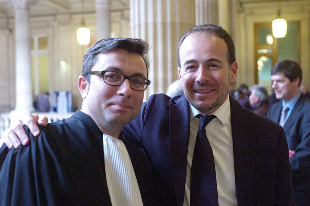A droite Miguel Ferro le Président de la Société Nouvelle Sipa (SNS) (c) Philippe Charliat pour A l'oeil
