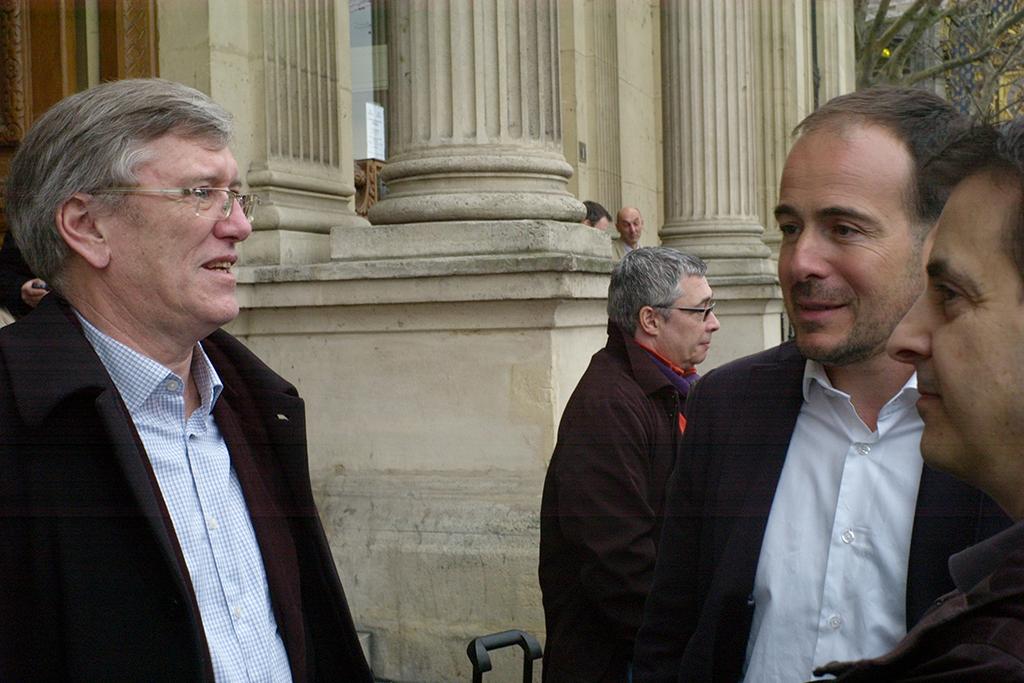 Jean Favreau de Pixpalace avec le nouveau patron de Sipa, Miguel Ferro (c) Philippe Charliat pour A l'oeil