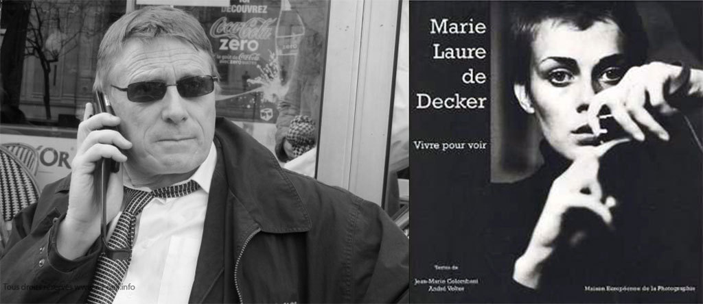 A droite la couverture du catalogue de l'exposition de Marie-Laure de Decker à la MEP (photo ML de Decker), a gauche François Lochon le 6 avril 2010 (photo Michel Puech)