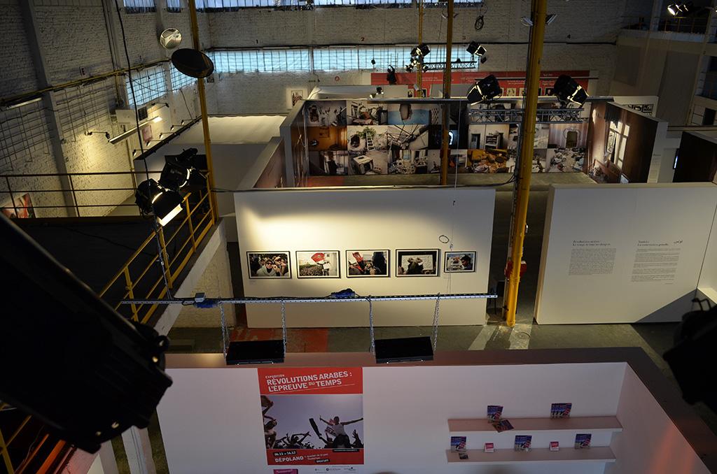 Vue d'ensemble de l'exposition dans Depoland (c) Michel Puech