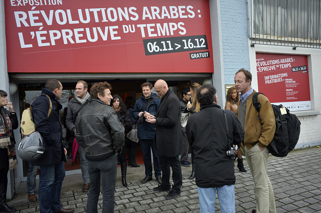 La presse parisienne s'est déplacée pour le vernissage (c) Michel Puech