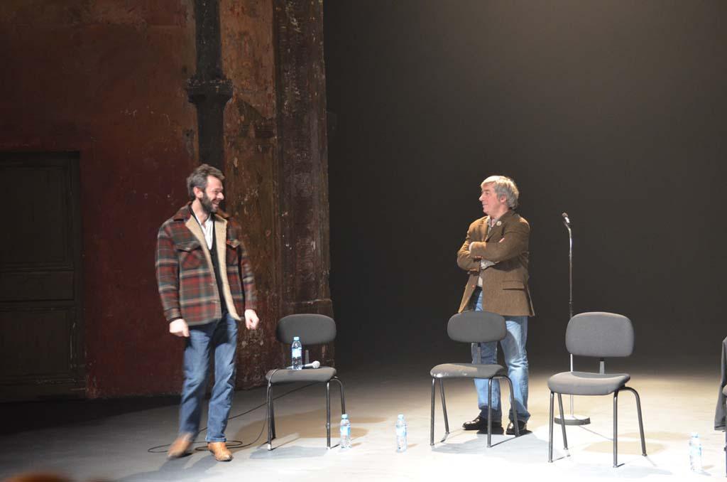 Emmanuel Merieu et Sorj Chalandon sur scène (c) Geneviève Delalot