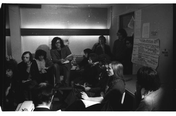 La rédaction de Libération rue de Lorraine 1973 (c) Gerard-Aimé / Gamma-Rapho