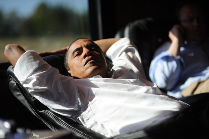 Barack Obama on the campaign trail