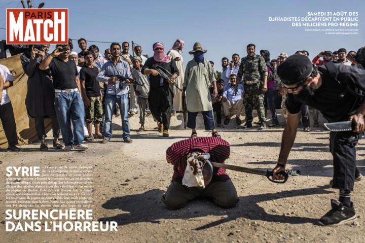 Les premières exécutions des djihadistes sont publiées en double page