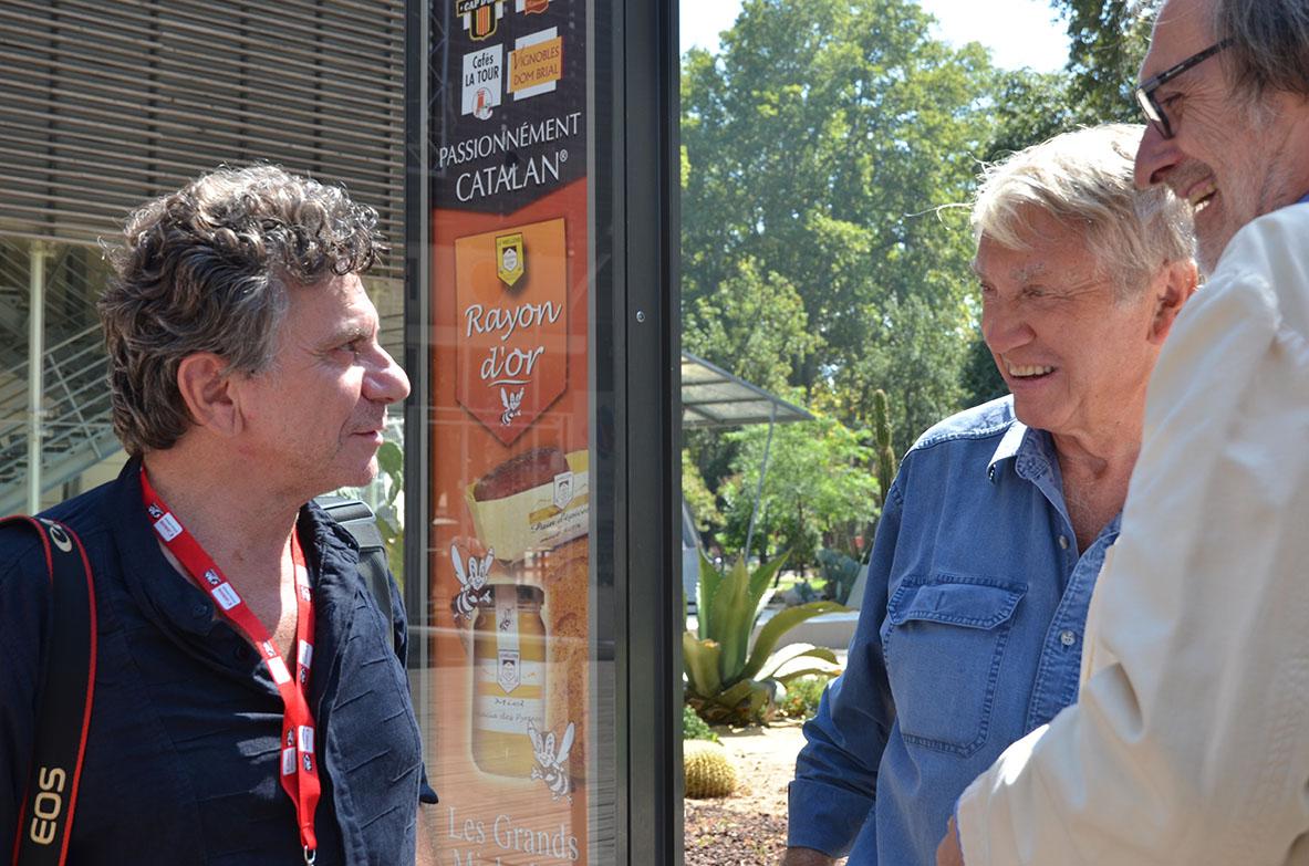 Perpignan, l'an passé Patrick CHauvel en discussion avec Don McCullin et Jean-François Leroy