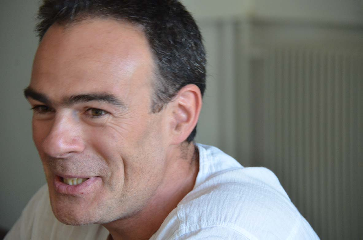 Gaël Turine à Visa pour l'image © Geneviève Delalot