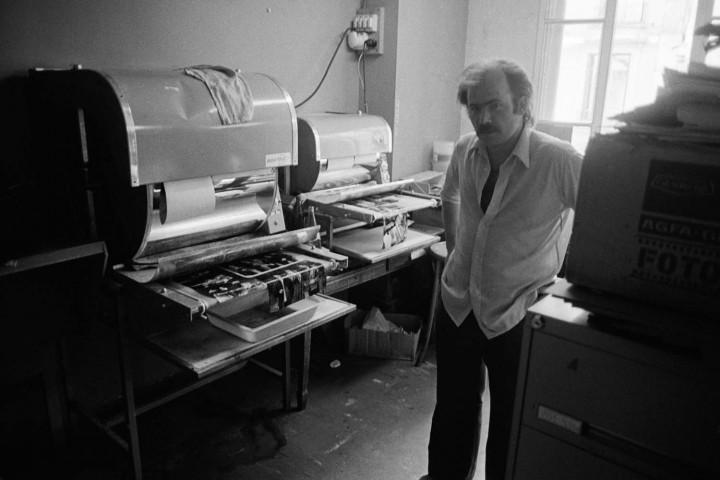 1973 - glaçeuse-sécheuse dans le laboratoire de l'agence APIS-Sygma © Jean-Pierre Laffont