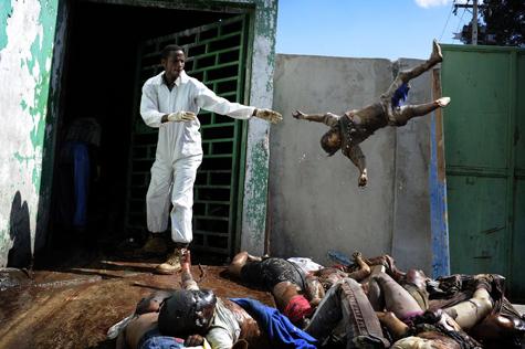 Tremblement de terre à Haiti (c) Olivier Laban Mattei / AFP