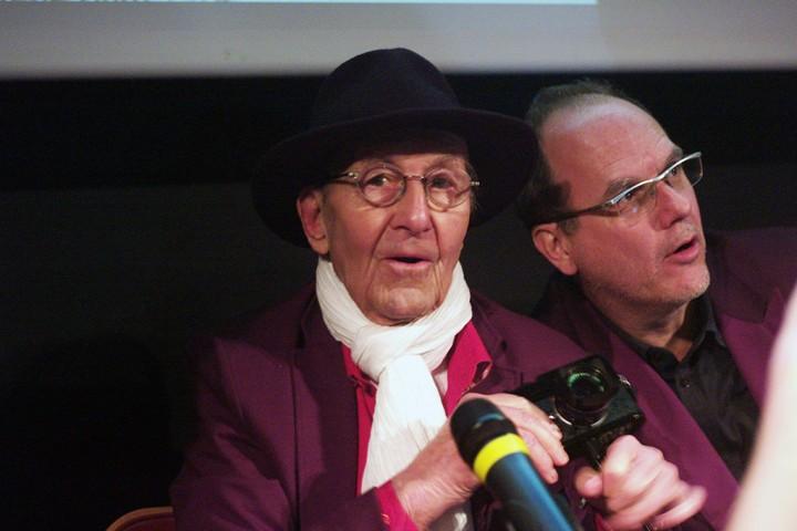Paris 6 avril 2013: Rencontre avec René Burri et Michel Guerrin, directeur adjoint au Monde : samedi 6 avril 2013 à l'Auditorium du Jeu de Paume à Paris