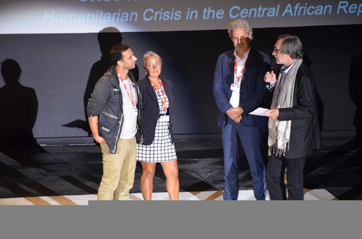 William Daniels reçoit le Visa d'or Humanitaire du CICR à Perpignan le 4 sept 2014 (c) Geneviève Delalot