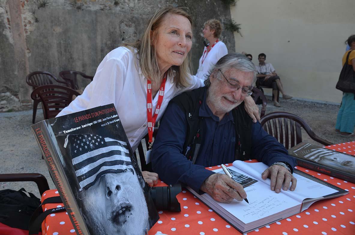 Eliane et Jean-Pierre Laffont àVisa pour l'image 2014 © Geneviève Delalot