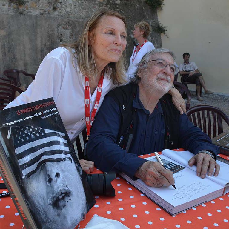 Eliane et Jean-Pierre Laffont à Visa pour l'image 2014 © Geneviève Delalot