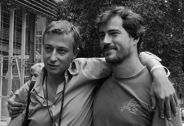 Patrick Codomier et Massimo Berutti de l'agence VU à Visa pour l'image 2009 ©Geneviève Delalot