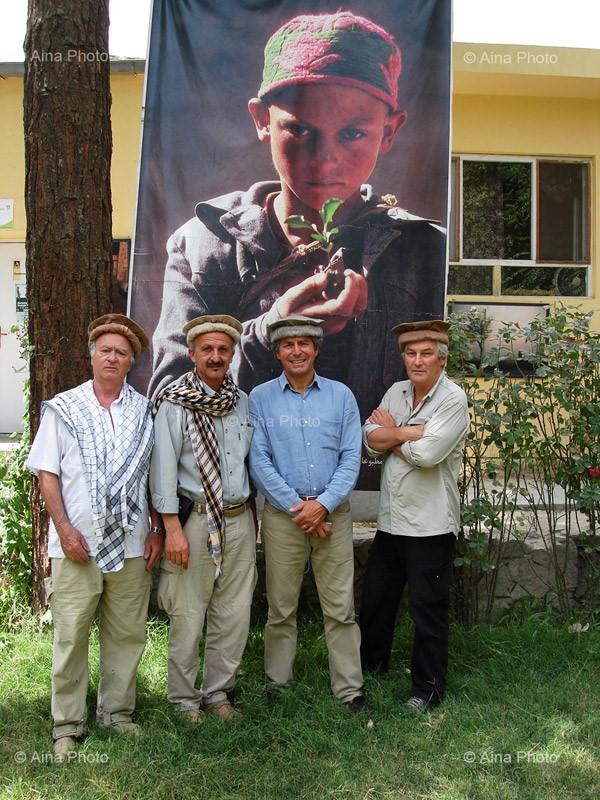 Afghanistan, Kaboul, Centre culturel des médias indépendants AINA,  Georges Wolinski, Reza, Alain Genestar, Alain Mingam