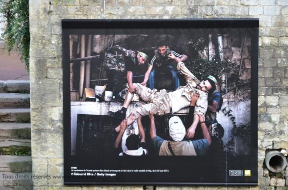 Photographie d'Edouard Elias exposée à Bayeux en 2013 durant le Prix Bayeux-Calvados des correspondants de guerre (c) Geneviève Delalot