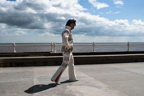 Reportage sur les sosies d'Elvis pour VSD © Edouard Elias