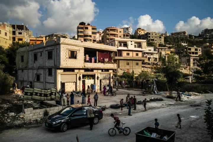 L'abri collectif de Souleiman Oun District de Saida, Liban, septembre 2014 ©Edouard Elias/PU-AMI