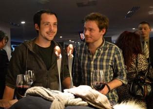 Lille, 11 décembre 2011, Rémi Ochlik (a gauche) et James Koegh (à droite) lauréats du Grand Scoop.  Photo © Geneviève Delalot