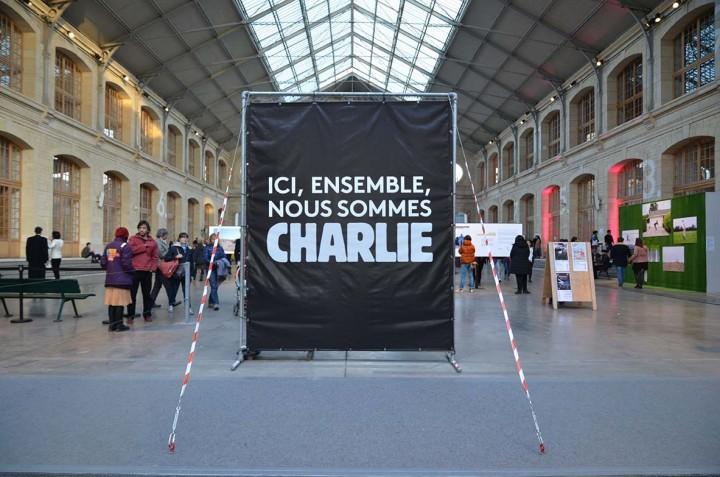 La France Charlie, ici le 104 à Paris © Geneviève Delalot