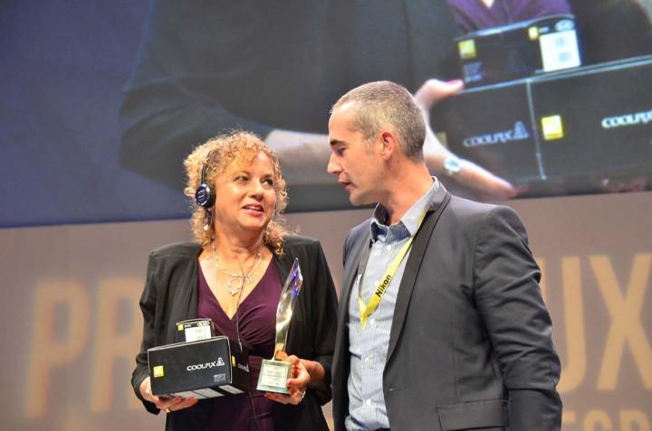 Bayeux (France) 10 octobre 2015 La photographe Heidi Levine de l'agence Sipa press a reçu le Prix Photo Nikon décerné par les professionnels et le Prix Photo AFD décerné par le public