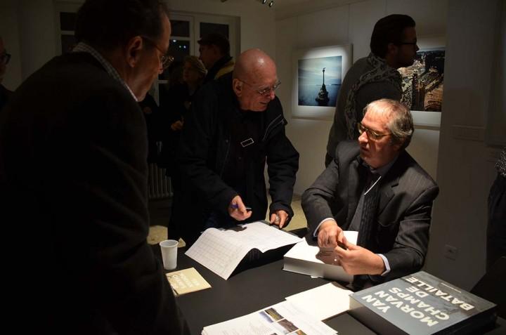Paris le 9 nov 2015, Vernissage de l'exposition Champs de bataille de Yan Morvan et sortie du livre du même titre aux Editions PhotosynthèsePhotographie ©Geneviève Delalot