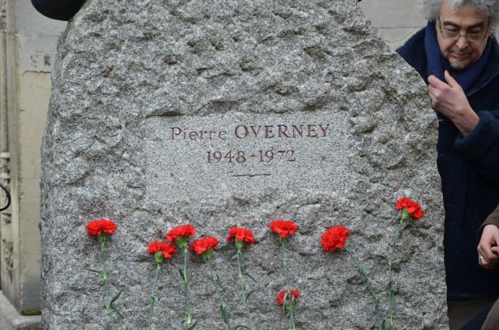 Hommage a Pierre Overney au Père Lachaise (c) Geneviève Delalot
