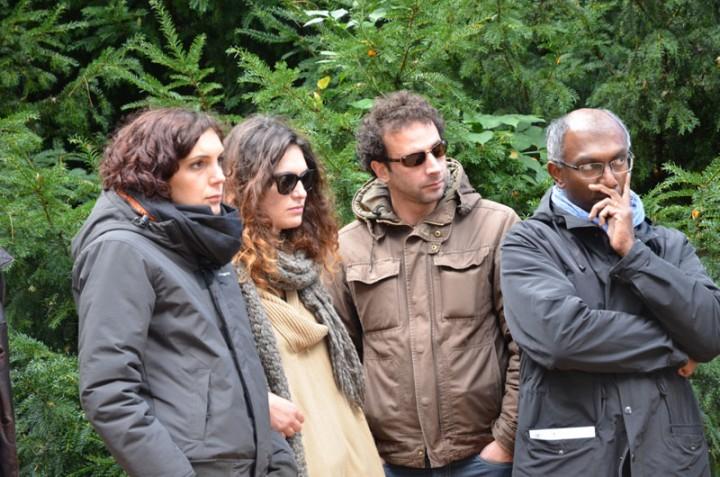 Au memorial des reporters à Bayeux: Edith Bouvier, Emilie Blachère, William Daniels