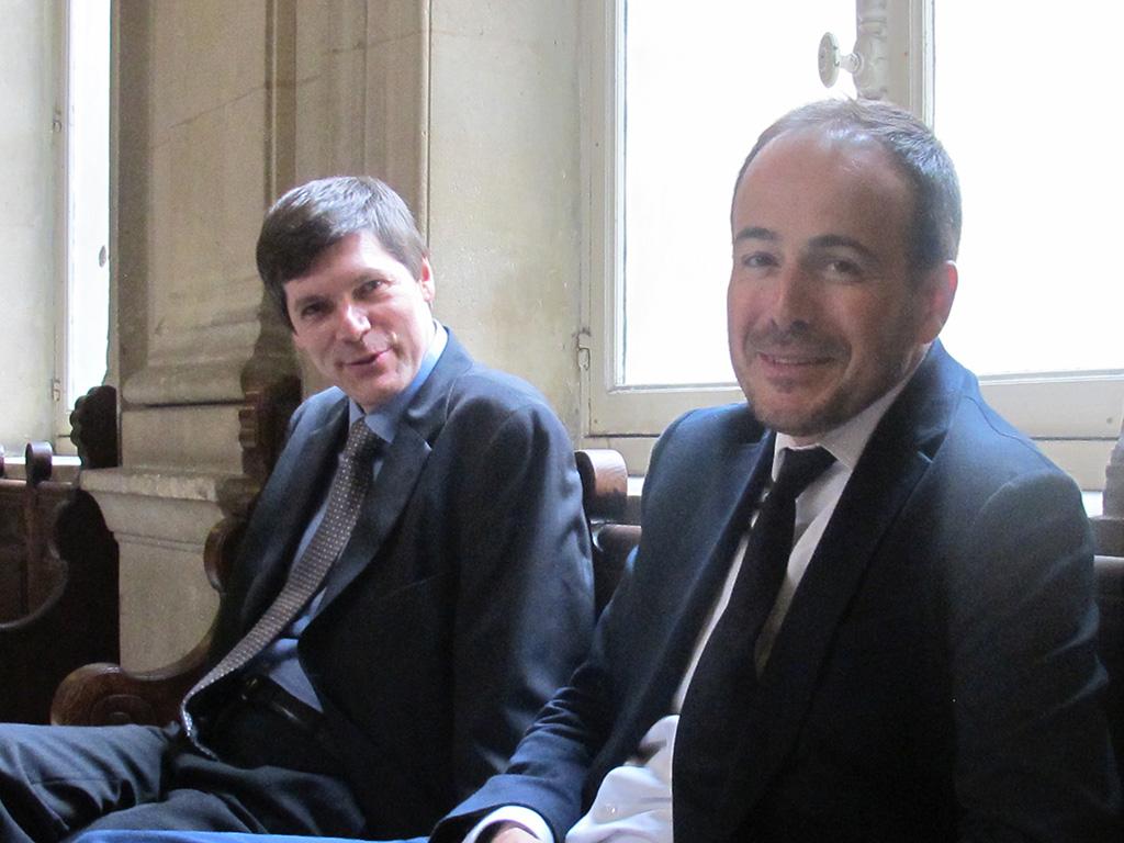 Les repreneurs: a gauche Paul Menef d'Isopix et à droite Miquel Ferro de Rex Features (c) Michel Puech