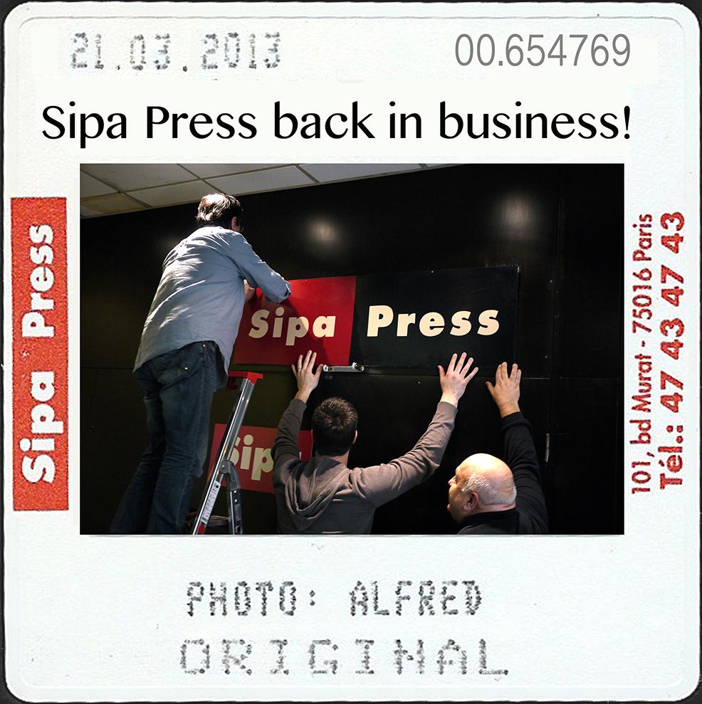 PARIS : Sipa Press back in business!