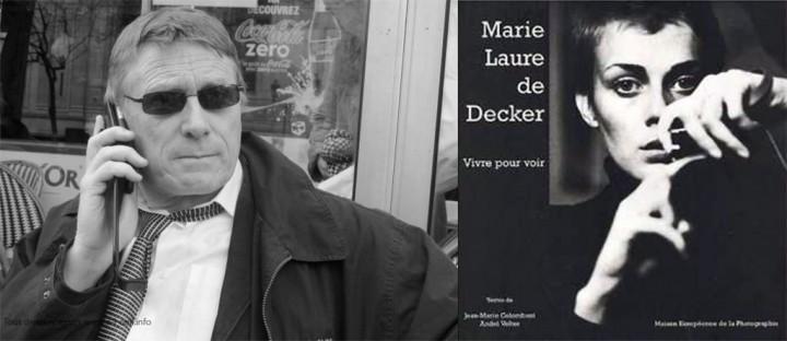 A droite la couverture du catalogue de l'exposition de Marie-Laure de Decker à la MEP (photo ML de Decker), a gauche François Lochon le 6 avril 2010 (photo Michel Puech)