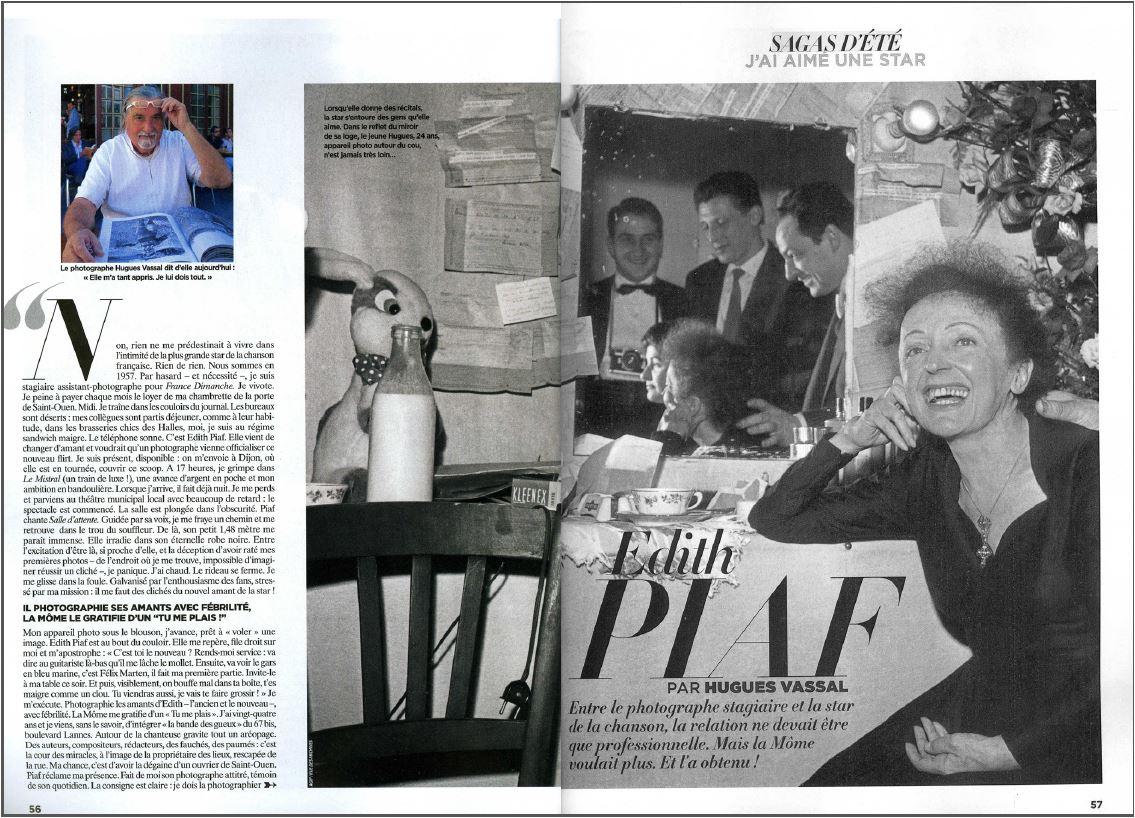 Edith Piaf par Hugues Vassal dans le magazine Gala