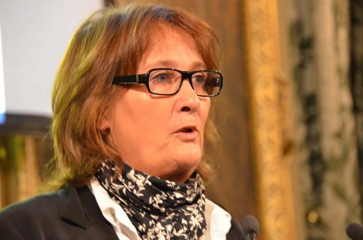 Béatrice Tupin, présidente du jury et chef du service photo du Nouvel Obs (c) Geneviève Delalot