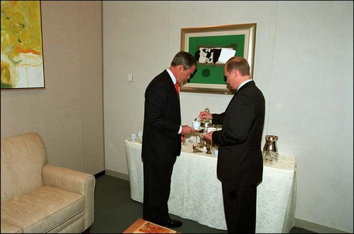 Poutine sucre le café de G Bush G8 (c) Pascal Rostain