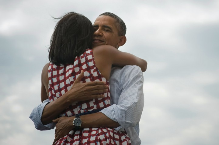 President Barack Obama and First Lady Michelle Obama in Dubuque, IA, 8/15/12.