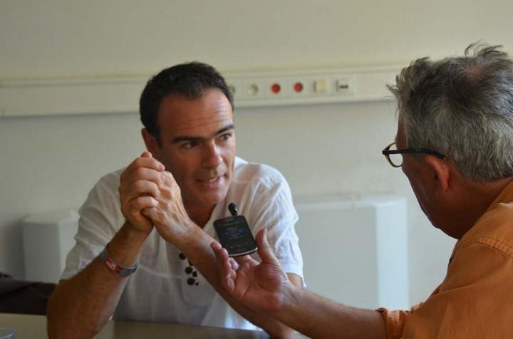 Gael Turine interviewé par Michel Puech à Perpignan © Geneviève Delalot