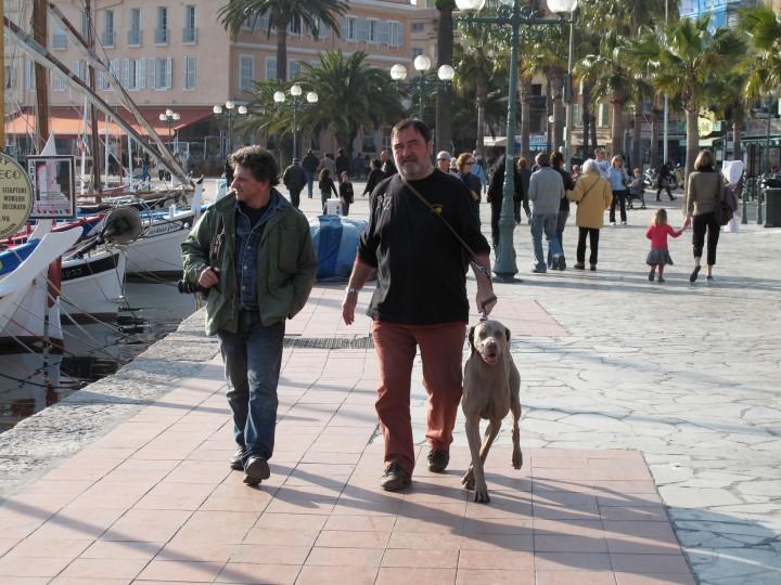 Patrick Chauvel et Henri Bureau à Sanary sur Mer-Mars 2009. Photo Dominique Aubert
