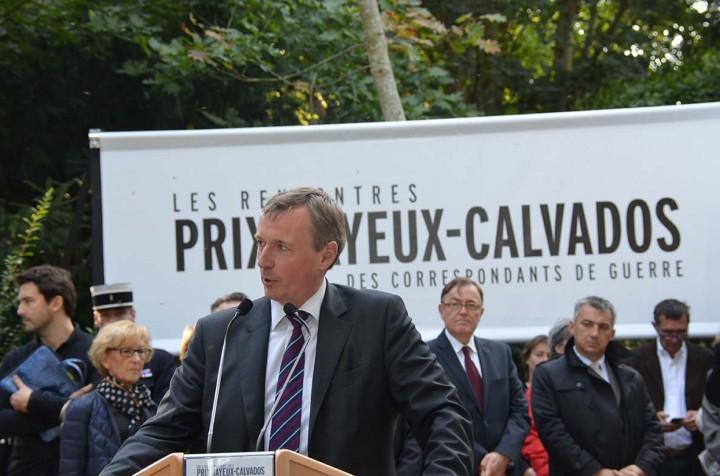 Memorial des reporters à  Bayeux © Geneviève Delalot