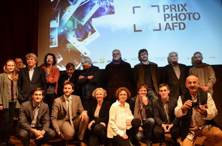 Le jury et les lauréats réunis à la MEP ©Geneviève Delalot