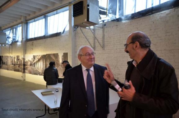 Dunkerque, sept 2013 interview de Michel Delebarre à l'occasion de l'exposition sur l'avenir des printemps arabes