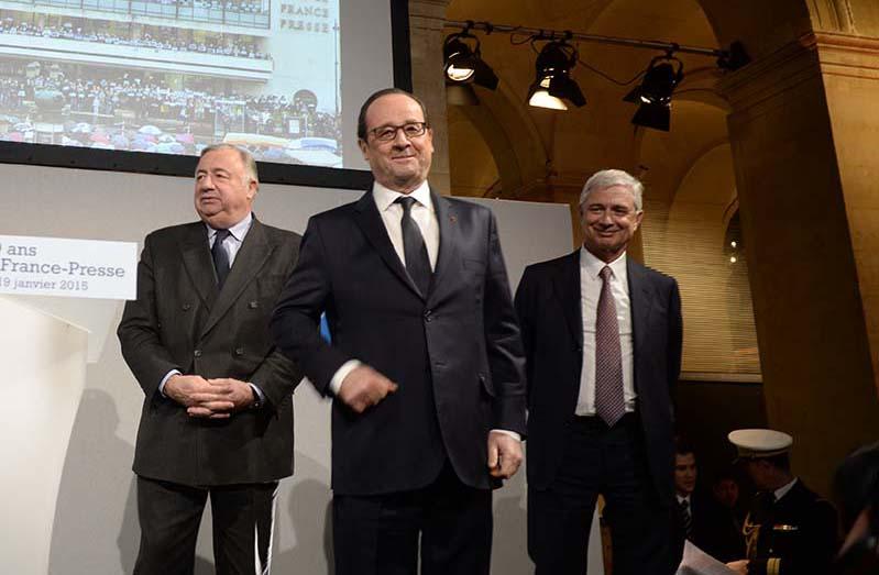 François Hollande au 70ème anniversaire de l'AFP © Geneviève Delalot