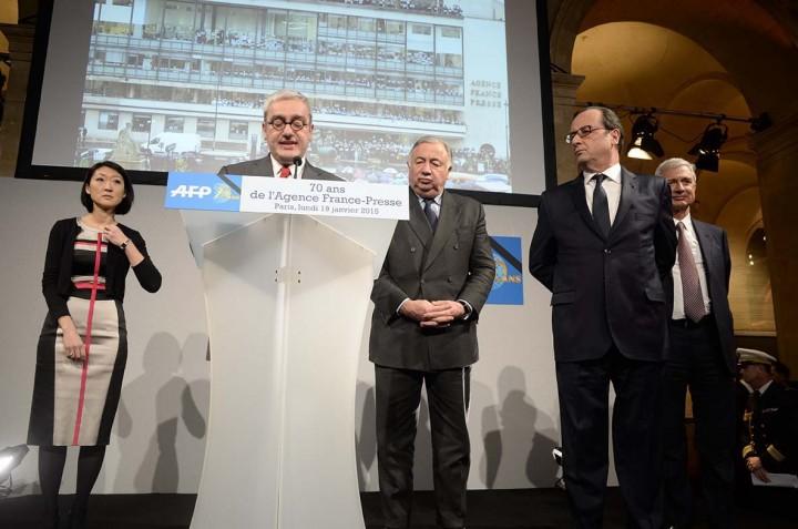 Emmanuel Hoog au 70ème anniversaire de l'AFP © Geneviève Delalot