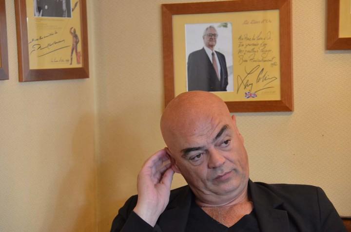 Bayeux le 8 oct.2015 Rémy Ourdan, journaliste Le Monde est Président de la fondation Warm