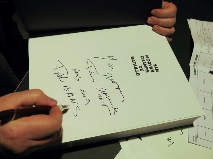 Paris le 9 nov 2015, Vernissage de l'exposition Champs de bataille de Yan Morvan et sortie du livre du même titre aux Editions PhotosynthèsePhotographie ©Alain Nogues