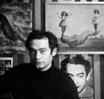 Portrait du dessinateur Roland Topor (1938 - 1997). 1968. Photographie ©Mario Dondero