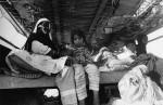 Voyage à bord d'une felouque dans le Golfe Persique. 1983 Photographie ©Mario Dondero