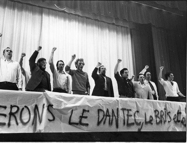 Paris, 1970 – Meeting pour la libération de Michel Le Bris et Jean-Pierre Le Dantec, emprisonnés comme directeurs de La Cause du Peuple. (c) Gérard-Aimé / Ville de Paris / BHVP